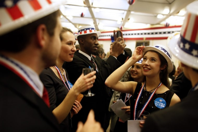 Image: US Presidential Election 2012 - election party in London