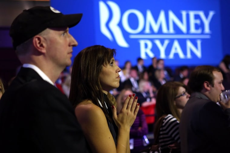 Image: Republican Presidential Candidate Mitt Romney Holds Election Night Gathering In Boston