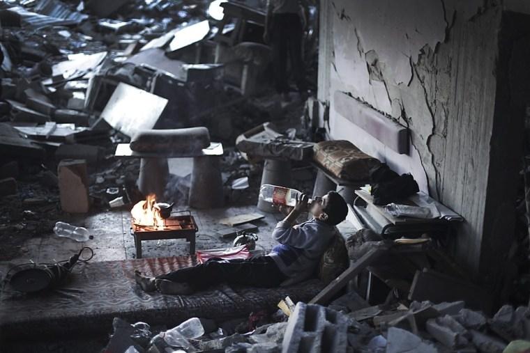 Image: Gaza airstrike damage