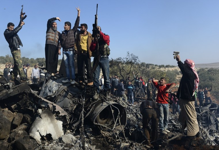 Image: TOPSHOTS-SYRIA-CONFLIT-REBELS-MILITARY