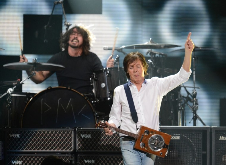 Image: Paul McCartney, Dave Grohl