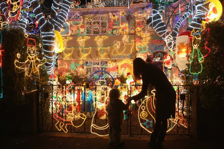 Image: Homeowners Decorate Their Houses For Christmas