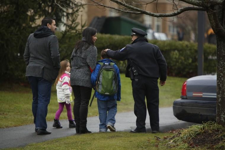 Image: Newtown after Sandy Hook Elementary School mass shooting