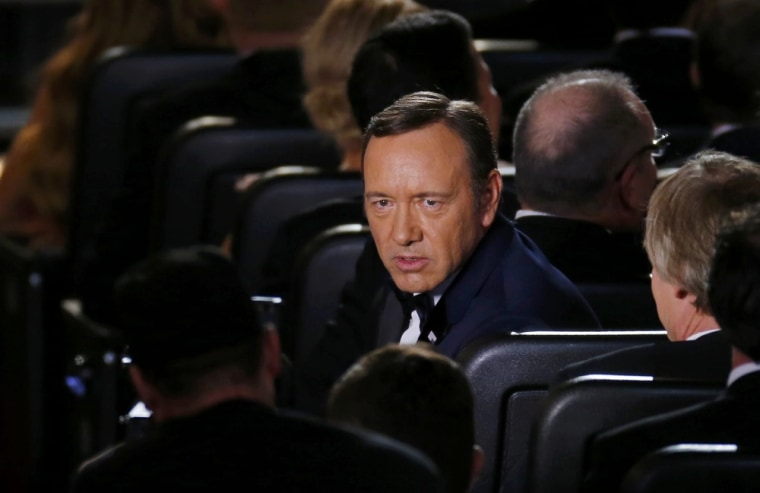 Image: Actor Kevin Spacey peforms a cutaway scene during the opening act at the 65th Primetime Emmy Awards in Los Angeles