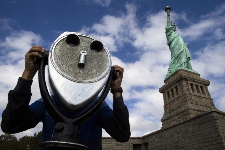 Image: The Statue of Liberty eopened to the public