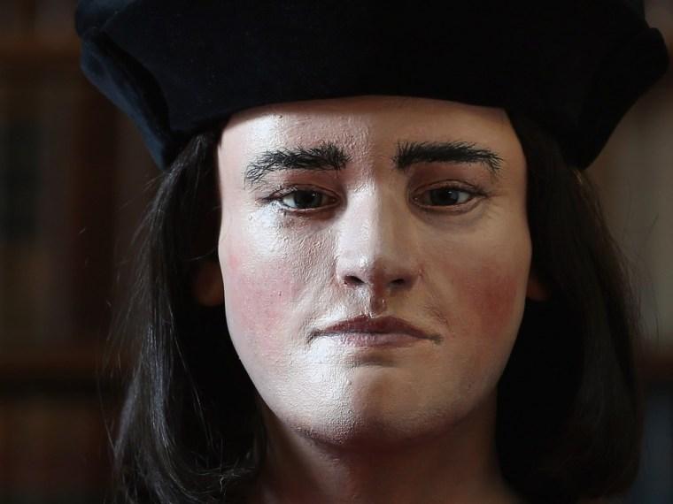 Image: A facial reconstruction of King Richard III.