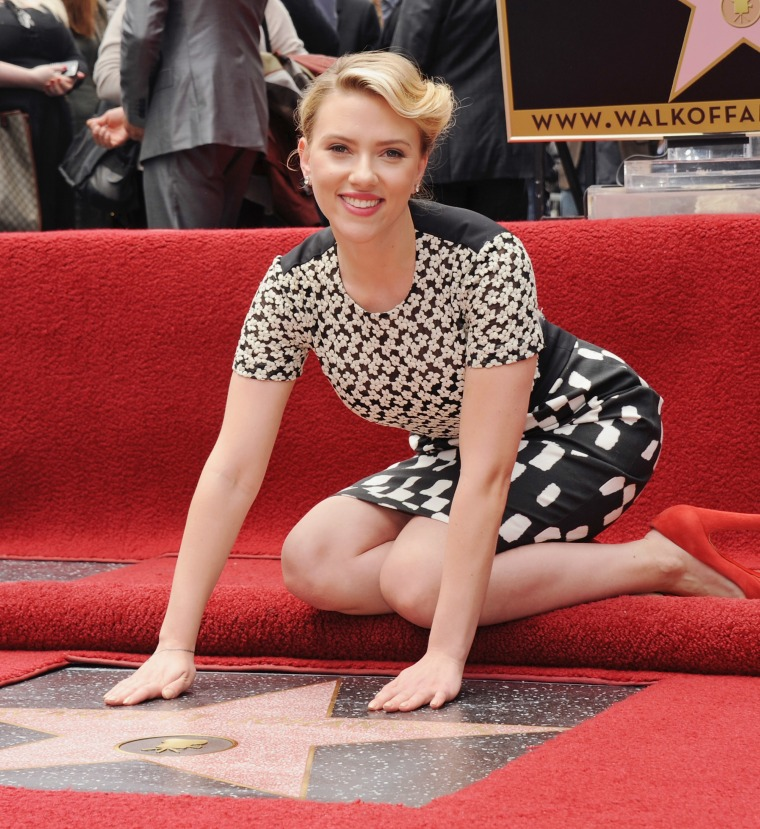 Scarlett Johansson Honored With Star On The Hollywood Walk Of Fame