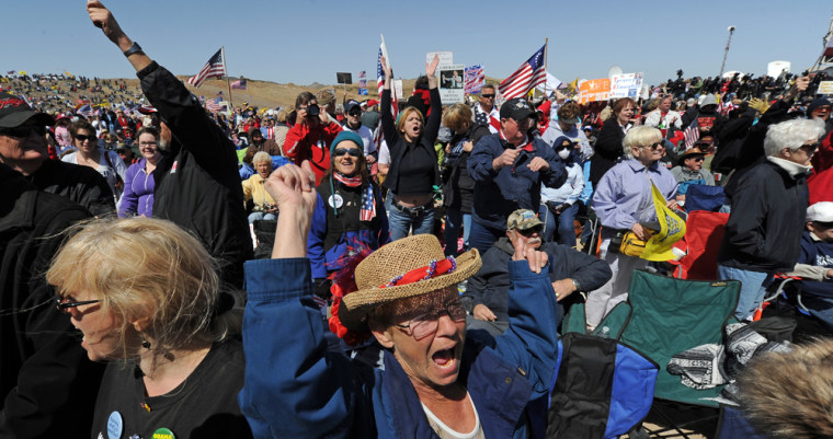 Image: Tea Party rally in Searchlight, Nev.