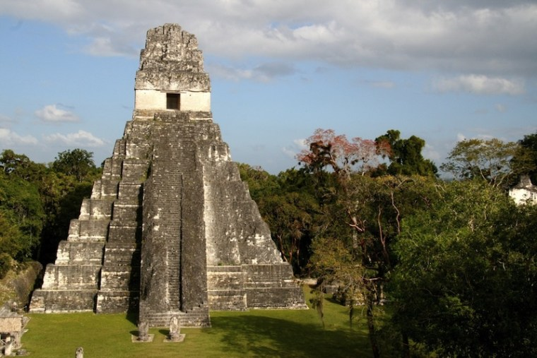 A temple in the Mayan city of Tikal, where a complex system of reservoirs met the water needs of the growing population.