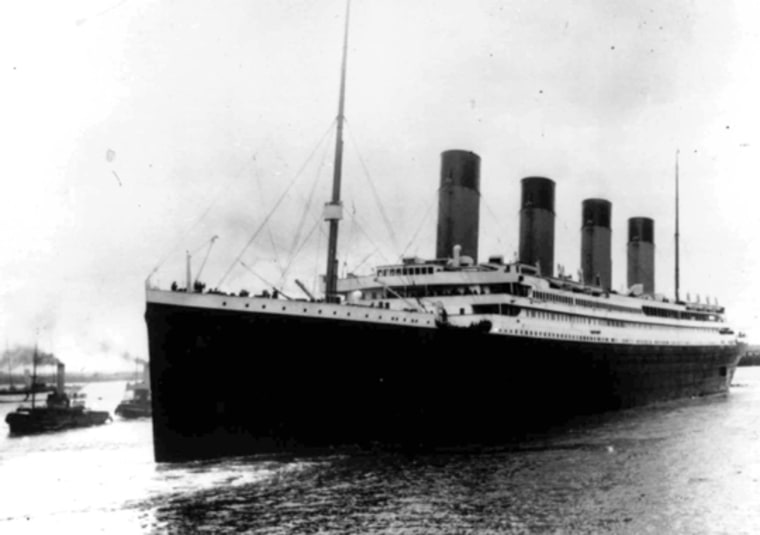 AP Photo |   Brits Doomed by Manners In this April 10, 1912 file photo the Titanic leaves Southampton, England. British passengers on board the sinking ship died while politely queuing to get their place on a lifeboat, while Americans pushed their way on, according to new analysis of passenger data.