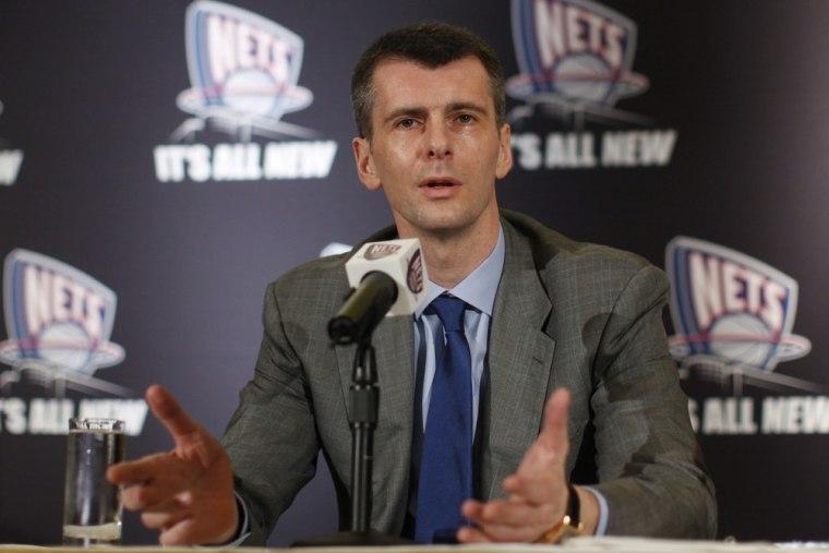 Image: New Jersey Nets owner Mikhail Prokhorov