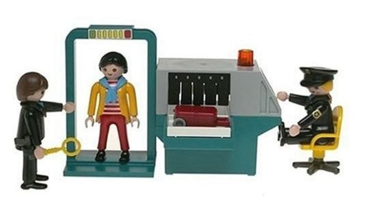 Image: Security checkpoint toy