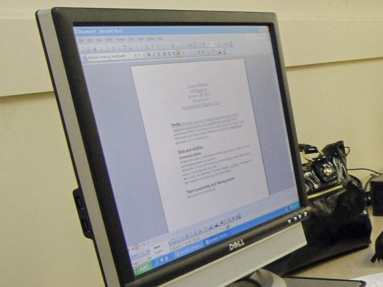 Image: Resume on computer