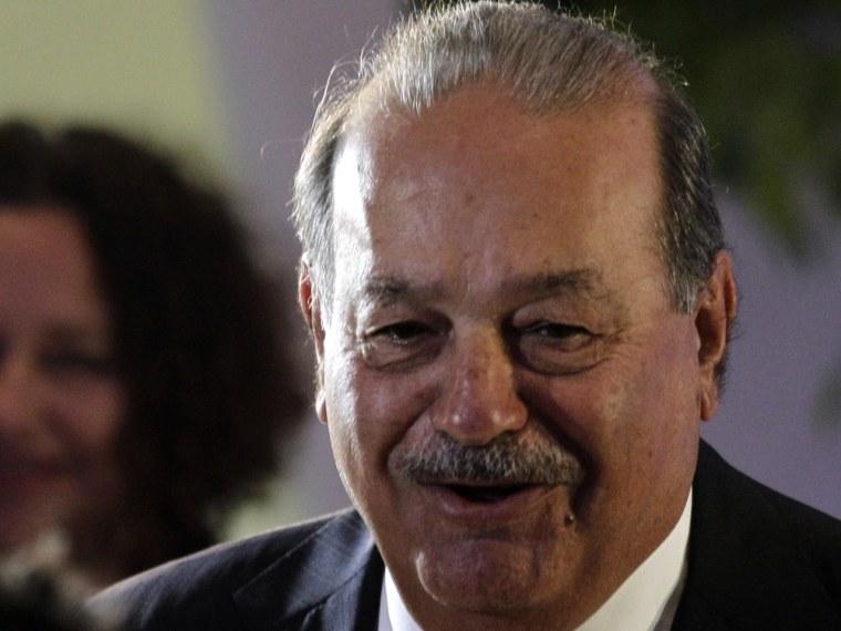 Image: Mexican tycoon Carlos Slim
