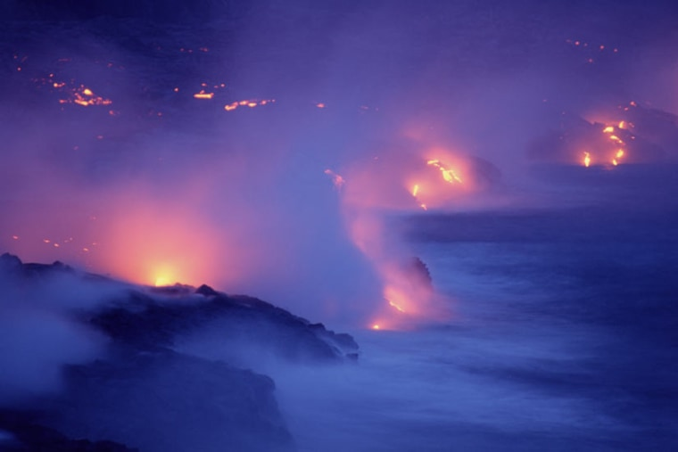Among the most famous hot spots are Hawaii, Yellowstone and Iceland. All of these have a long history of eruptive pulses that have burned through the slowly moving crust above like a cutting torch.