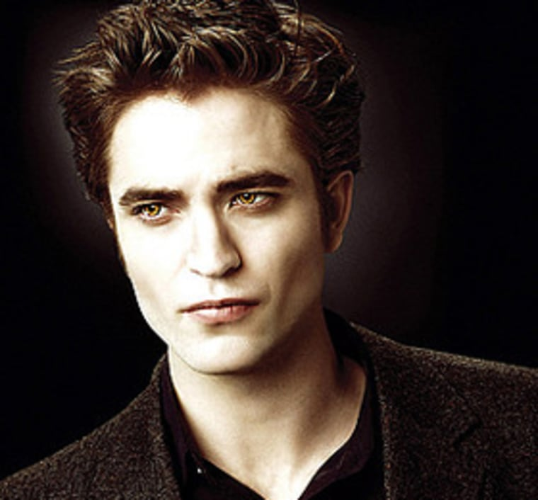 "Robert Pattinson plays Edward, the sultry lead vampire in the hit movie ""Twilight."""