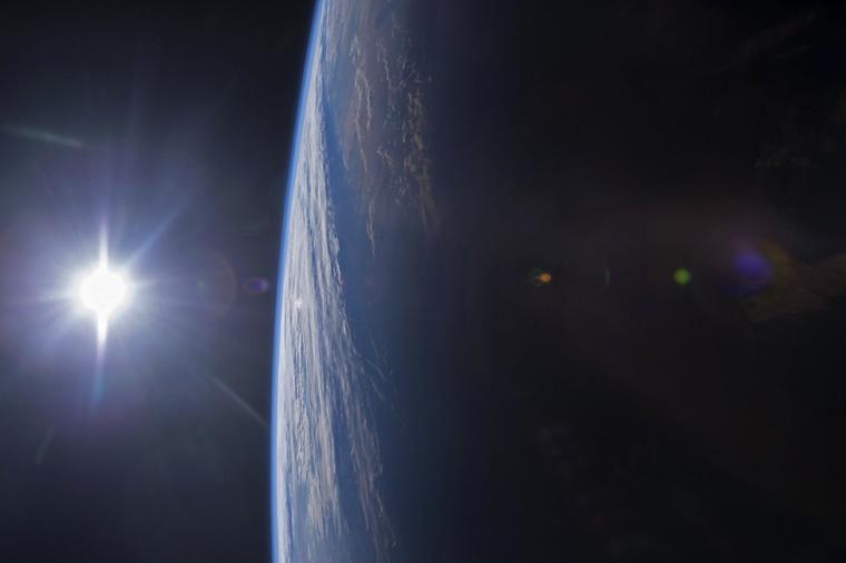 Image: The Gulf of Mexico and U.S. Gulf Coast at sunset is shown in this image from the International Space Station