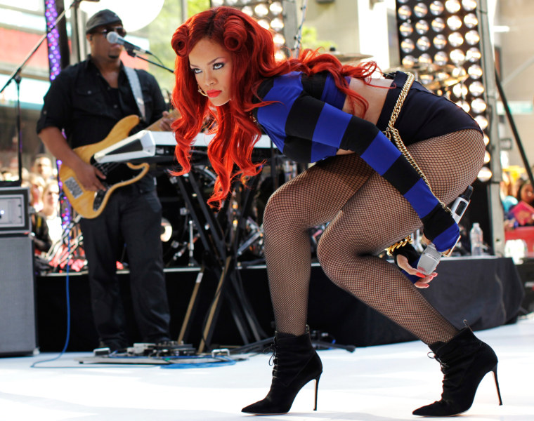 """Image: Singer Rihanna performs on NBC's """"Today"""" show in New York"""