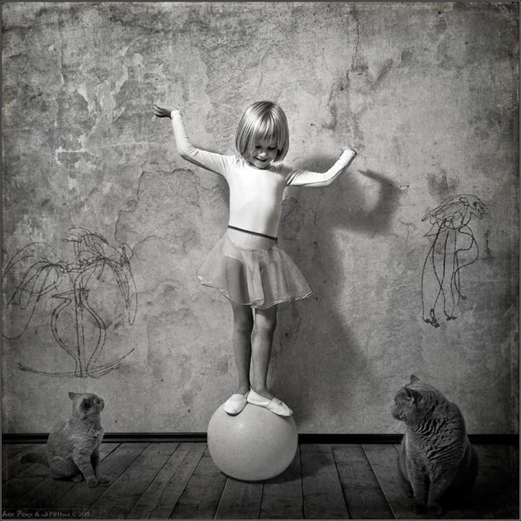 Acrobate a la boule