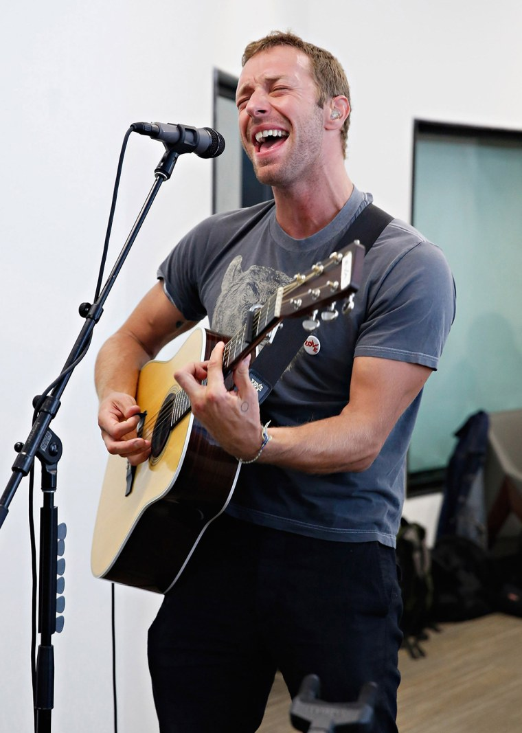 "Image: BESTPIX: Chris Martin Visits ""The Elvis Duran Z100 Morning Show"""