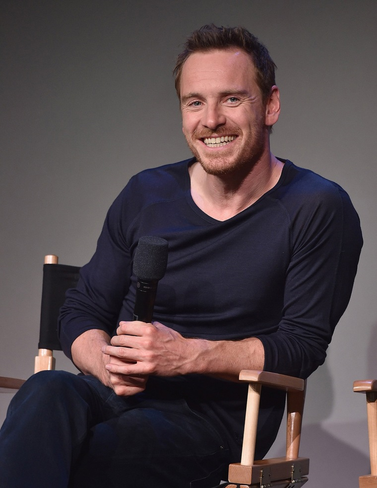 "Image: BESTPIX: Apple Store Soho Presents: Meet the Actors: Michael Fassbender And Domhnall Gleeson - ""Frank"""