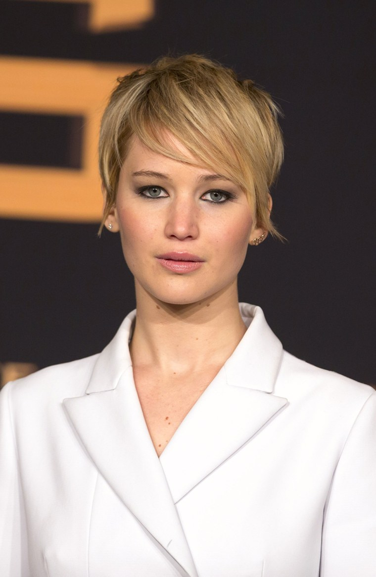"Image: Jennifer Lawrence on the red carpet before German premiere of ""The Hunger Games: Catching Fire"" in Berlin"