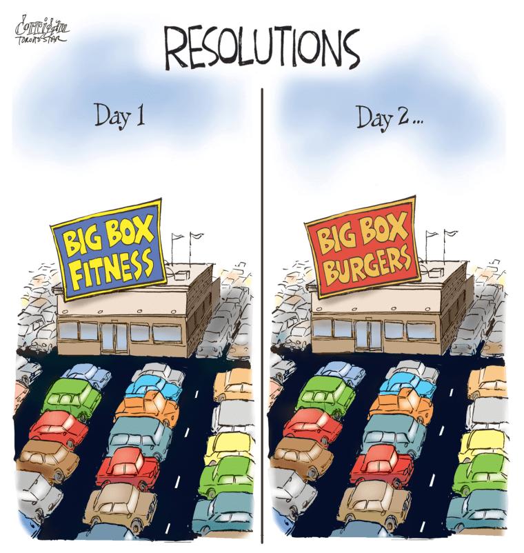 New Years Resolution Cartoons