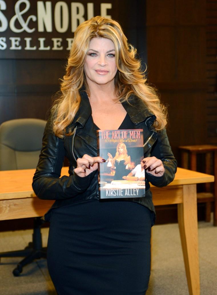 """Kirstie Alley Signs Copies Of Her New Book """"The Art Of Men"""""""