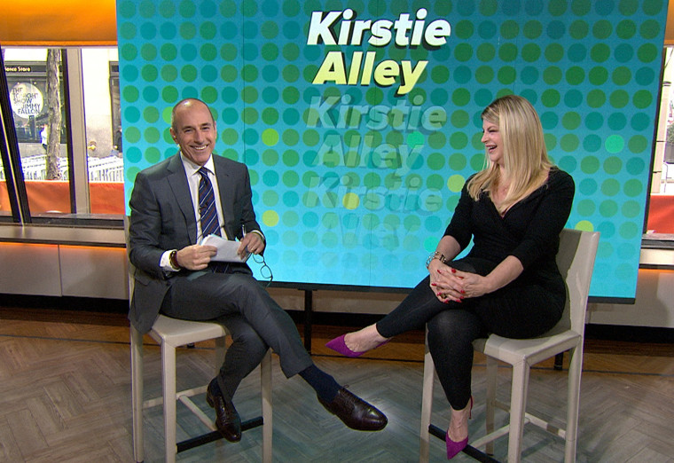 Kirstie Alley appears on the TODAY Show, where the actress revealed she will reappear as the spokesperson for Jenny Craig.