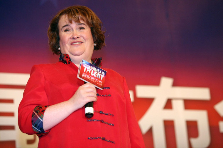 Image: Susan Boyle Attends Press Conference In Shanghai