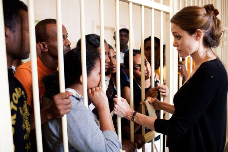 Image: *** BESTPIX ***Goodwill Ambassador, Angelina Jolie, visits refugees in Turkey