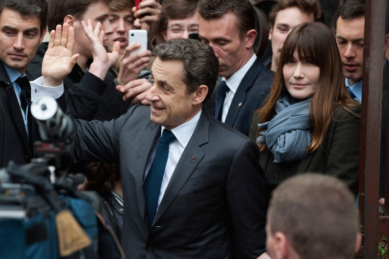 Image: UMP Candidate Nicolas Sarkozy Votes In Second Round Of French Presidential Election