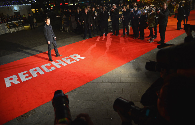"Image: U.S. actor Cruise arrives for the world premiere for the film ""Jack Reacher"" in Leicester Square"