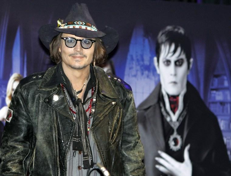 Image: Johnny Depp for Japan Premiere of movie Dark Shadows