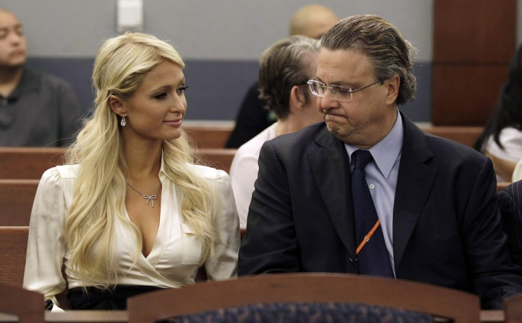 Image: Paris Hilton, David Chesnoff