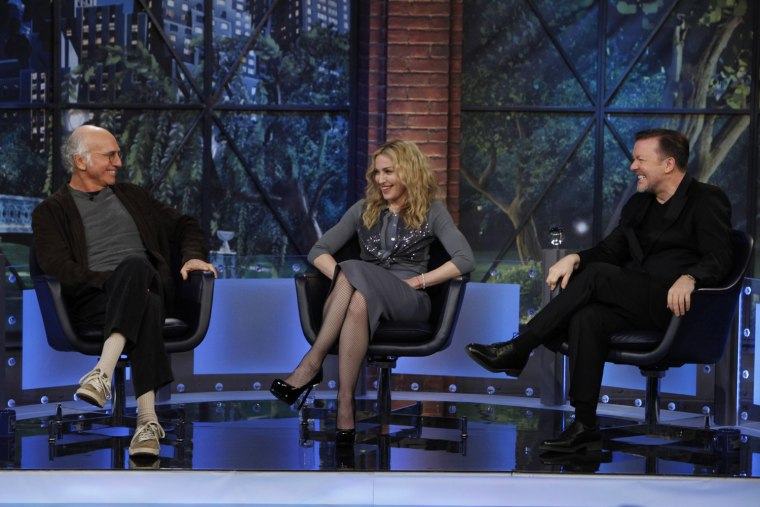 """Image: Larry David, Madonna, Ricky Gervais on """"The Marriage Ref"""""""