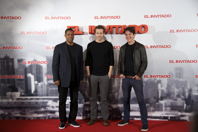 Denzel Washington and Ryan Reynolds Attend 'Safe House' Photocall