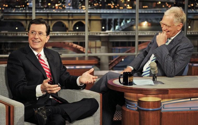 Image: Stephen Colbert, David Letterman