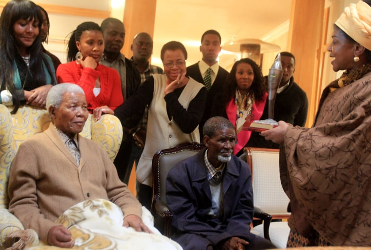 Image: Nelson Mandela Receives The ANC Centenary Torch