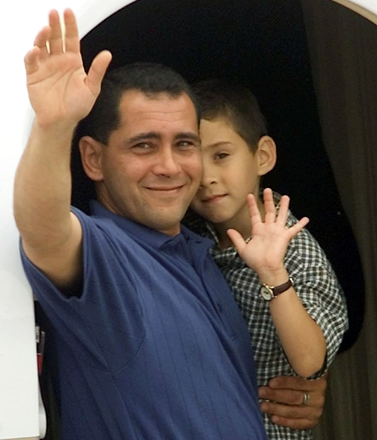 Image result for elian gonzalez and his father leave for cuba