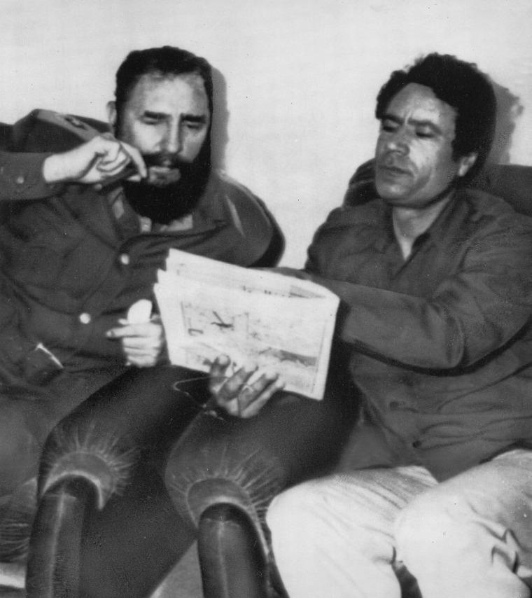 Image: Muammar Gaddafi; Fidel Castro