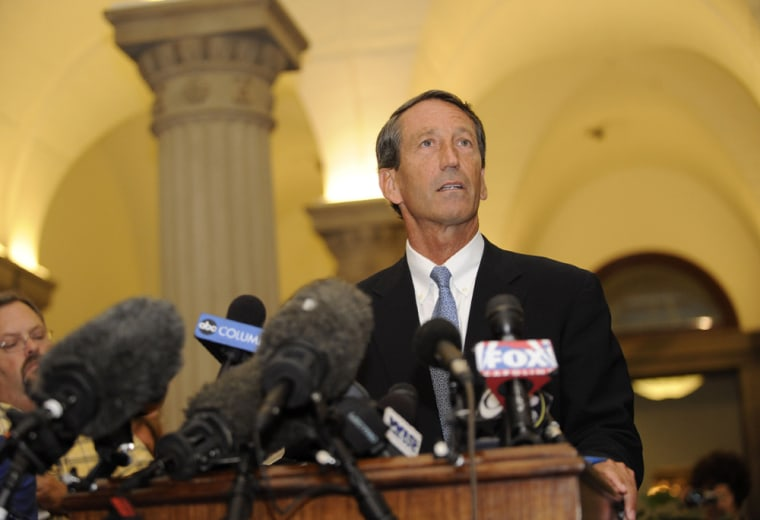 Image: South Carolina Gov. Mark Sanford Returns To Capitol After Unexplained Trip