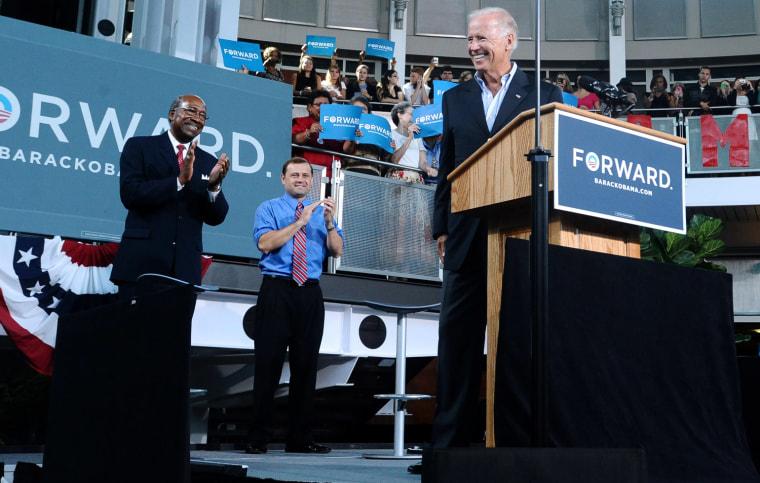 Joe Biden, Sherman Saunders, Tom Perriello