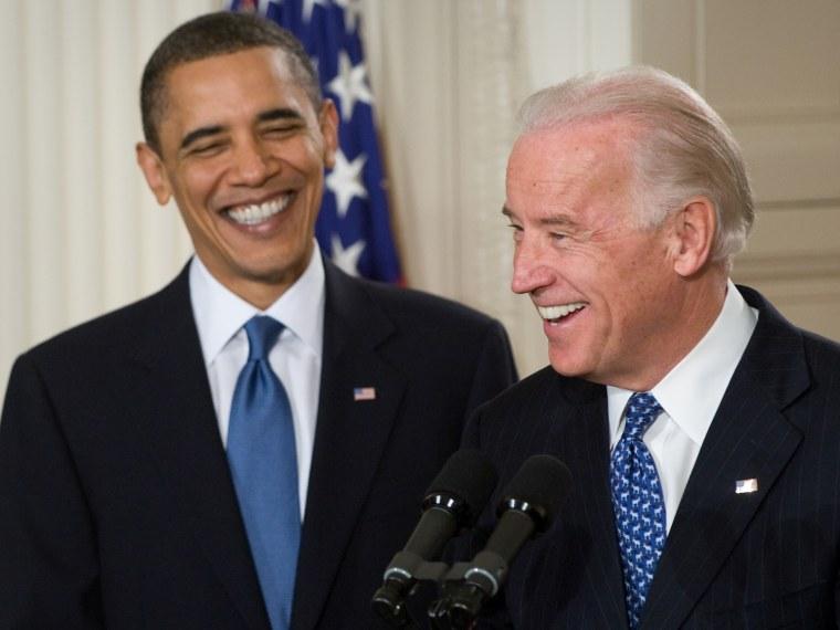 Image: Barack Obama is introduced by Joe Biden