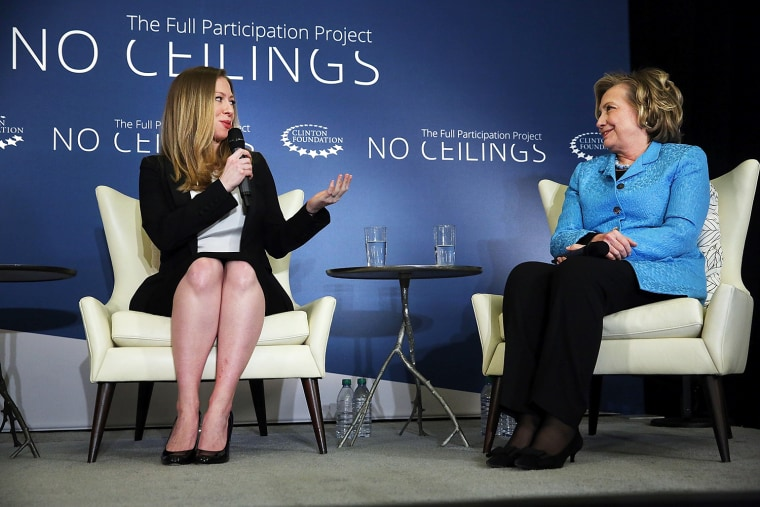 Hillary And Chelsea Clinton Speak Host Discussion On Girls And Women