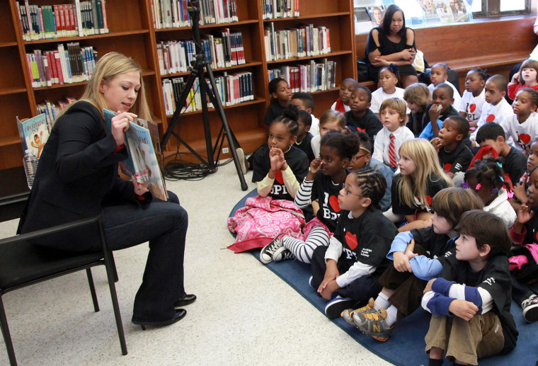 Chelsea Clinton Story Time Reading At The Brooklyn Library