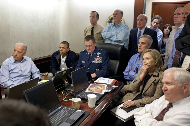 Image: File handout photo shows U.S. President Barack Obama with members of the national security team in the Situation Room of the White House