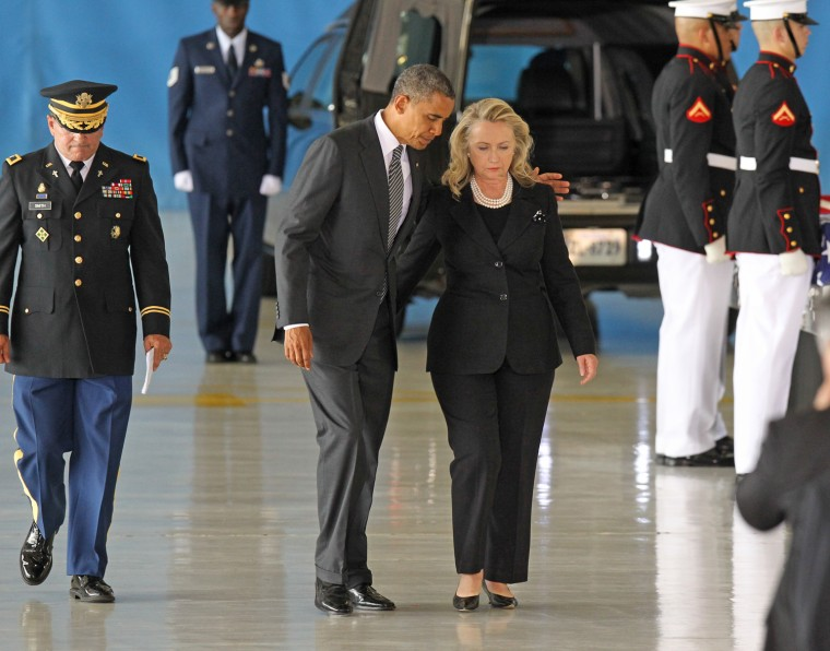 Image: *** BESTPIX *** Obama Attends Transfer Of Remains Ceremony