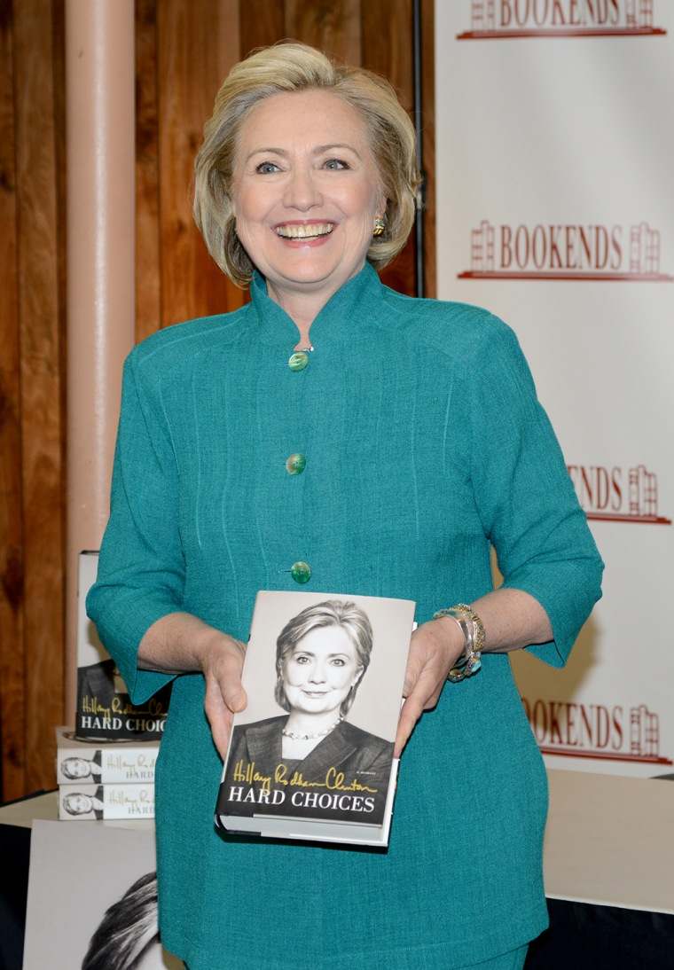 "Hillary Rodham Clinton Signs Copies Of Her Book ""Hard Choices"""