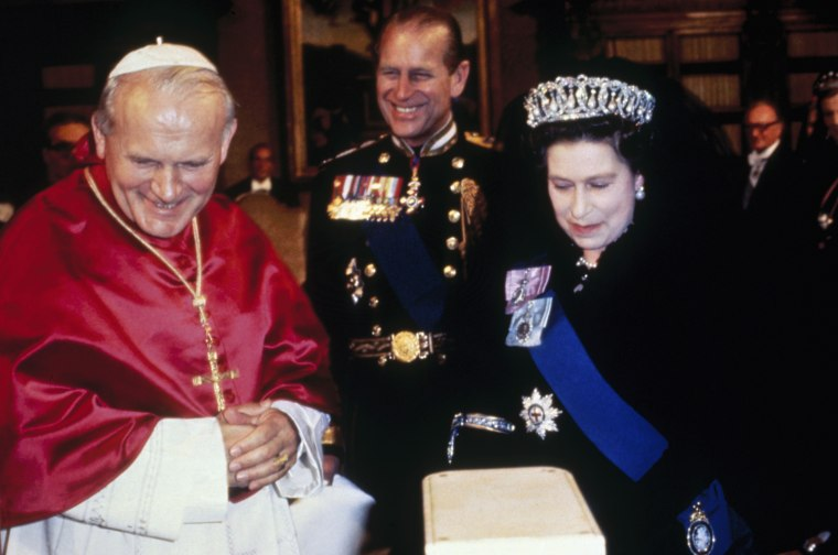 Image: FILE  John Paul II Is Made A Saint Pope And Royals